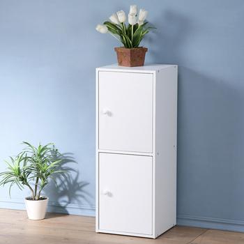 《Homelike》現代風二門置物櫃(純白色)
