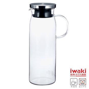 ★結帳現折★iwaki 耐熱玻璃水壺 1L(K294-SV)