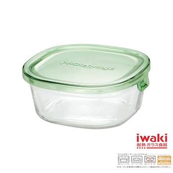 ★結帳現折★iwaki 玻璃微波盒 450ml(綠)(KT3240N-G)
