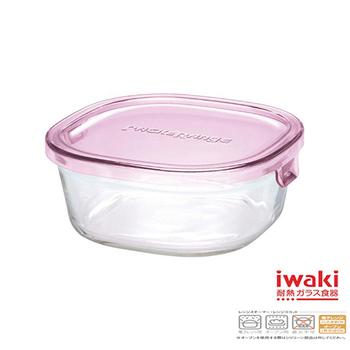 ★結帳現折★iwaki 玻璃微波盒 450ml(粉)(KT3240N-P)