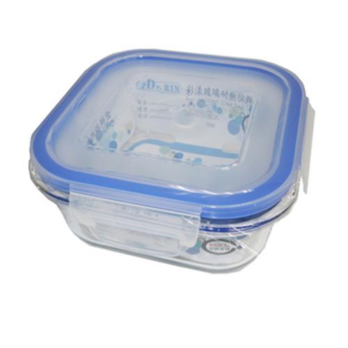 Dr.RIN方形花漾玻璃耐熱保鮮盒500ml(500ML / LS-500NB)