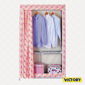 《VICTORY》106x46x165cm彩豔防塵衣櫥(HB-Z125)