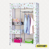 《VICTORY》106x46x170cm彩豔防塵衣櫥(HB-W120)