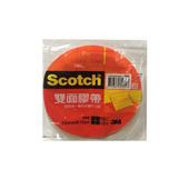 《Scotch》雙面棉紙膠帶(12mmX15yd 單入袋裝)