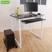 《DFhouse》亨利80公分附鍵盤多功能工作桌+主機架-兩色可選(胡桃色)