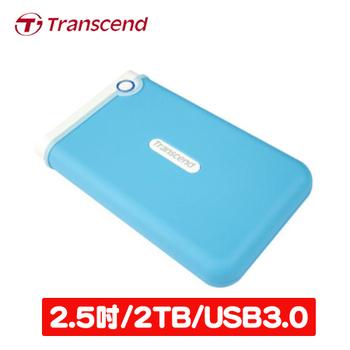 Transcend 創見 25M3B 2TB USB3.0  2.5吋防震軍規行動硬碟(TS2TSJ25M3B)
