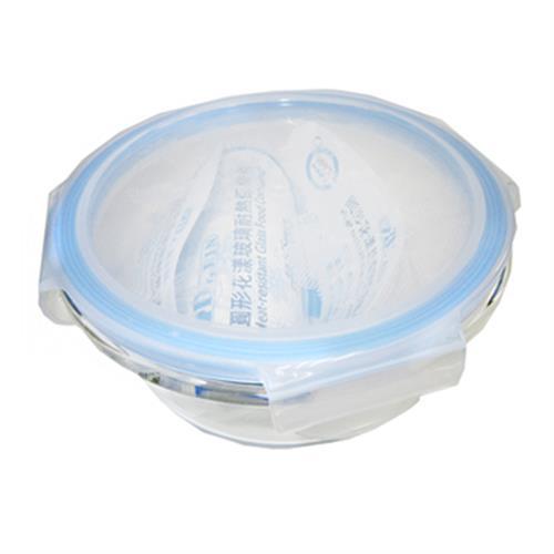 Dr.RIN圓型花漾玻璃耐熱保鮮盒640ml(640ML / LO-640NB)