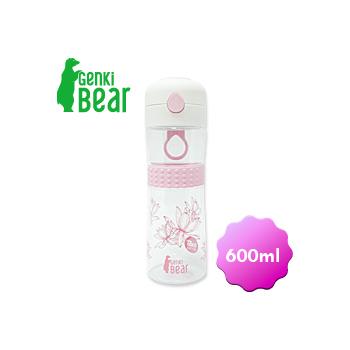 GENKI BEAR 水舞Tritan彈蓋水壺/600ml(粉紅色)