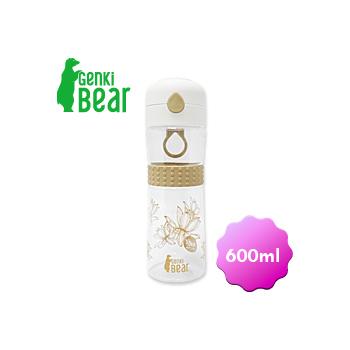 GENKI BEAR 水舞Tritan彈蓋水壺/600ml(咖啡色)