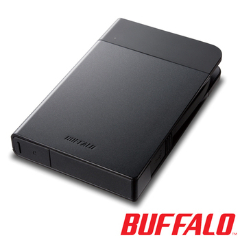 BUFFALO PZF系列2.5吋1TB USB3.0 耐衝擊軍規隨身硬碟(日本製)(黑)