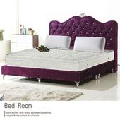 《AGNES 艾格妮絲》法式3M吸濕排汗緹花三線獨立筒床墊-雙人加大(6x6.2尺)