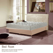 《AGNES 艾格妮絲》皇家飯店加厚緹花柔軟三線獨立筒床墊-雙人加大(6x6.2尺)