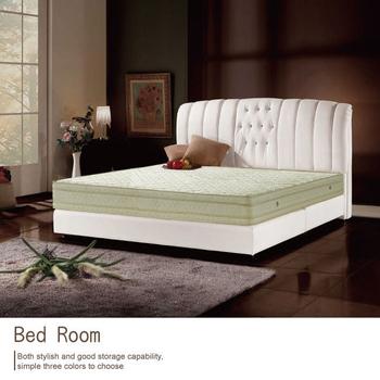 《AGNES 艾格妮絲》德式天然乳膠舒柔緹花四線獨立筒床墊-雙人加大(6x6.2尺)