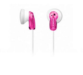 SONY 繽紛多彩立體聲耳機(MDR-E9LP/P粉)