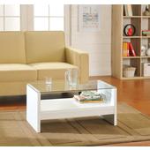 《佳嘉家》簡約安全玻璃小茶几桌/邊桌(白色)