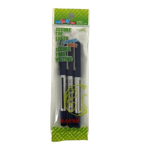 三菱UB-150全液式鋼珠筆(藍#3入)