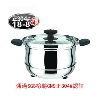 丹露 免火再煮鍋-家居型304不銹鋼6L(D304-27)