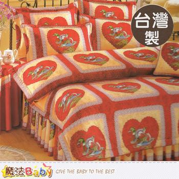 《魔法Baby》台灣製秀士棉5x6.2尺雙人純棉枕套床包組 x009180