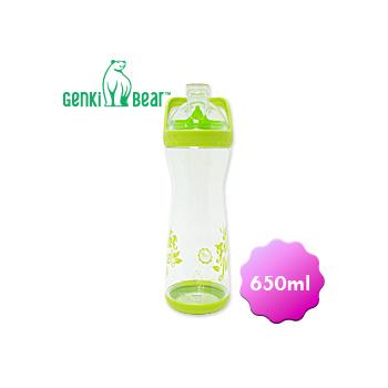 GENKI BEAR 果漾Tritan隨手瓶/650ml(綠色)