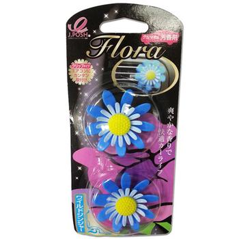 日本小花 車用消臭芳香劑(一組二入)(野薑花)