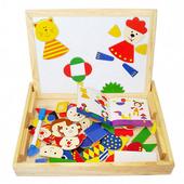 (動物世界) 兒童兩用磁性積木畫板(A)