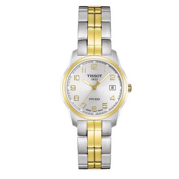 TISSOT TISSOT 天梭 PRC100系列數字典雅鋼帶女錶-雙金色 # T0492102203200