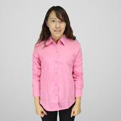 FP女長袖基本襯衫(桃紅#L)