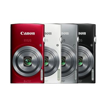 Canon IXUS 160 8倍光學時尚隨身相機(公司貨)★送16G記憶卡+讀卡機+小腳架+清潔組+保護貼(紅色)