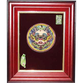 鹿港窯 交趾陶裝飾壁畫-太極龍王(S)