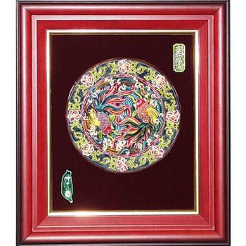 鹿港窯 交趾陶開運裝飾壁飾-金玉滿堂(圓形)