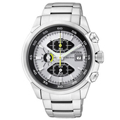 《CITIZEN》Eco-Drive 希望之翼三眼運動腕錶CA0130-58A-銀灰/42mm