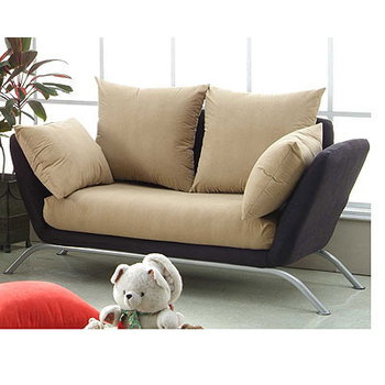 日式 鶴楓專利獨立筒沙發(黑+咖啡)