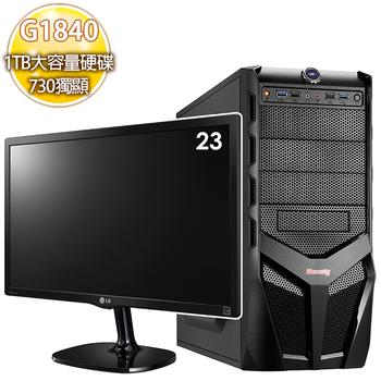 華碩平台 【復仇怒火】 intel 雙核 2G獨顯 大容量燒錄電腦+23型LG液晶顯示器