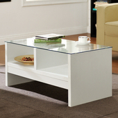 《佳嘉家》經典安全玻璃小茶几桌/邊桌(白色)