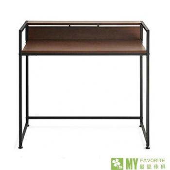 最愛傢俱 簡約時尚書桌(深胡桃色)