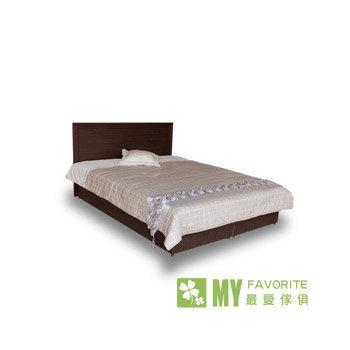★結帳現折★最愛傢俱 新復古6呎木面加大雙人床+床墊(胡桃色)