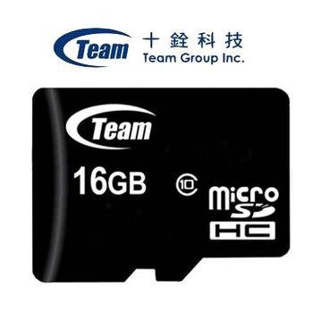 Team十銓 MicroSDHC 16GB Class10 高速卡(含轉卡)(1入組)