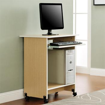 佳嘉家 輕巧附鍵盤架電腦桌/工作桌/書桌(白橡色)