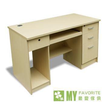 最愛傢俱 經典4呎電腦書桌(白橡色)