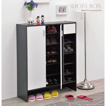 Frama 伊里斯普羅雙門一抽鞋櫃(雙色可選)(胡桃木配白)