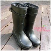 《SANHO》甜心半筒雨鞋(黑色10)