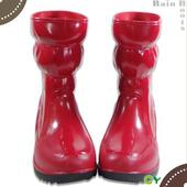 《SANHO》流行半筒雨鞋(三色可選)(紅色9)
