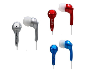 SANYO台灣三洋 耳道式耳機 ERP-12(白藍紅隨機出貨)