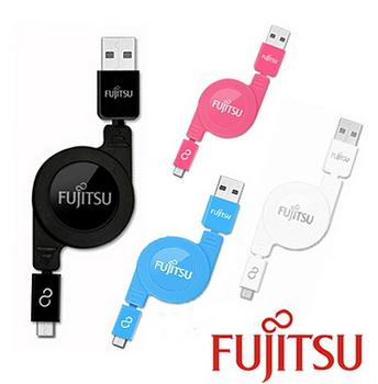 FUJITSU富士通 Micro USB充電傳輸捲線(80cm) UM200