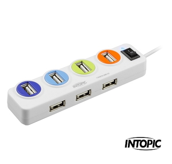 INTOPIC USB2.0 7埠集線器 HB-26
