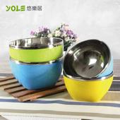 《YOLE悠樂居》家庭簡約不鏽鋼飯碗(4入組)