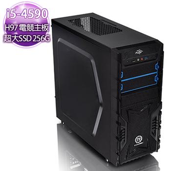 華碩H97平台 【貪婪生命】i5-4590 四核心 750 2G獨顯 超速256SSD電競電腦