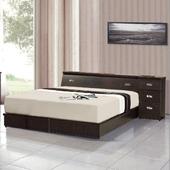 《AGNES 艾格妮絲》超值典藏四件式房間組合(床墊+床頭箱+床底+床頭櫃)(胡桃色)