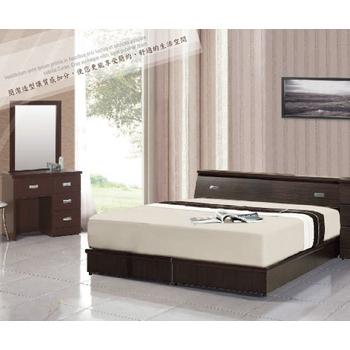 《AGNES 艾格妮絲》超值典藏四件式房間組合(床墊+床頭箱+床底+鏡台)(胡桃色)