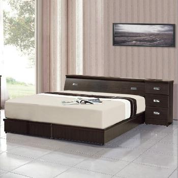 《AGNES 艾格妮絲》超值典藏五件式房間組合(床墊+床頭箱+床底+床頭櫃+衣櫃)(胡桃色)